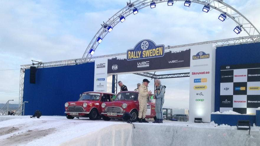 Start der Rally Schweden